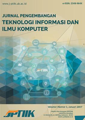 Jurnal Pengembangan Teknologi Informasi Dan Ilmu Komputer